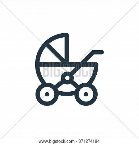 Stroller Vector Icon. Stroller Editable Stroke. Stroller Linear Symbol For Use On Web And Mobile App