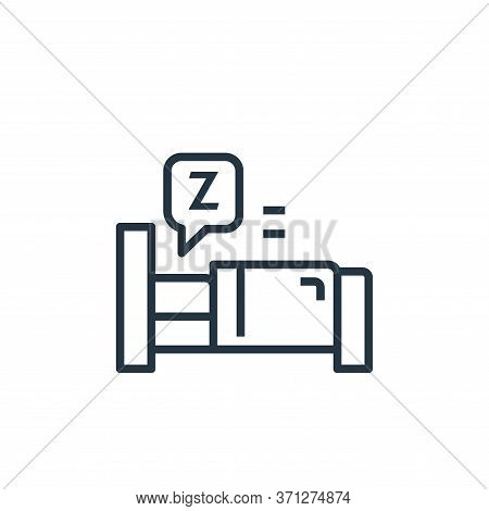 Sleep Vector Icon. Sleep Editable Stroke. Sleep Linear Symbol For Use On Web And Mobile Apps, Logo,