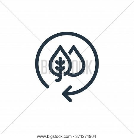 Recycle Symbol Vector Icon. Recycle Symbol Editable Stroke. Recycle Symbol Linear Symbol For Use On