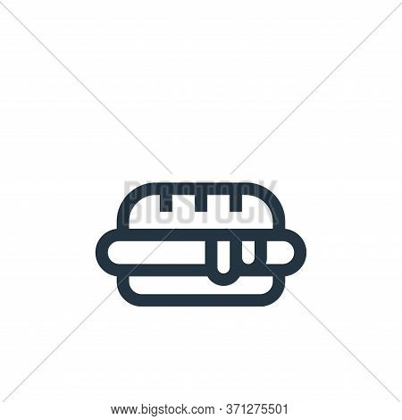 Hot Dog Vector Icon. Hot Dog Editable Stroke. Hot Dog Linear Symbol For Use On Web And Mobile Apps,