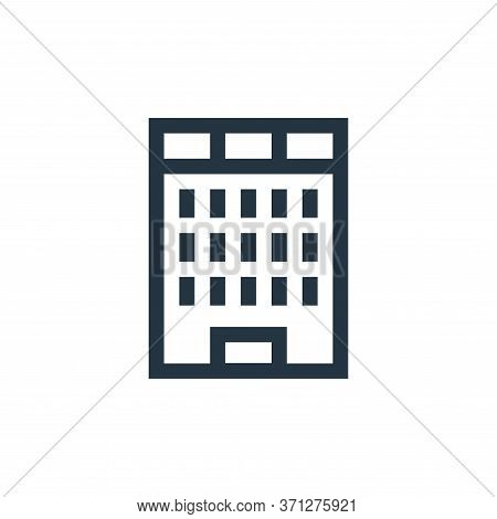 Business Center Vector Icon. Business Center Editable Stroke. Business Center Linear Symbol For Use