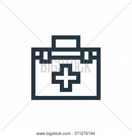 First Aid Kit Vector Icon. First Aid Kit Editable Stroke. First Aid Kit Linear Symbol For Use On Web