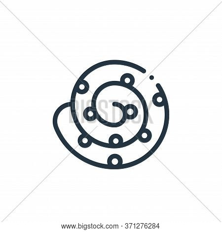 Cinnamon Roll Vector Icon. Cinnamon Roll Editable Stroke. Cinnamon Roll Linear Symbol For Use On Web