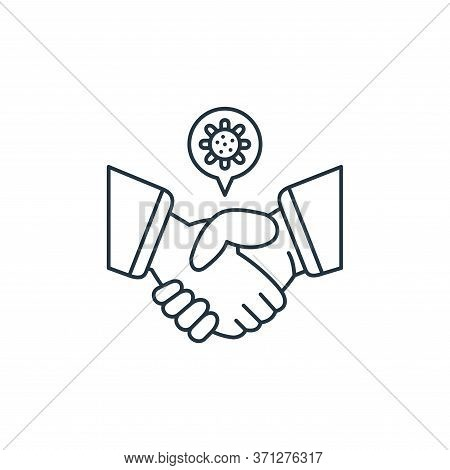 Shake Hands Vector Icon. Shake Hands Editable Stroke. Shake Hands Linear Symbol For Use On Web And M