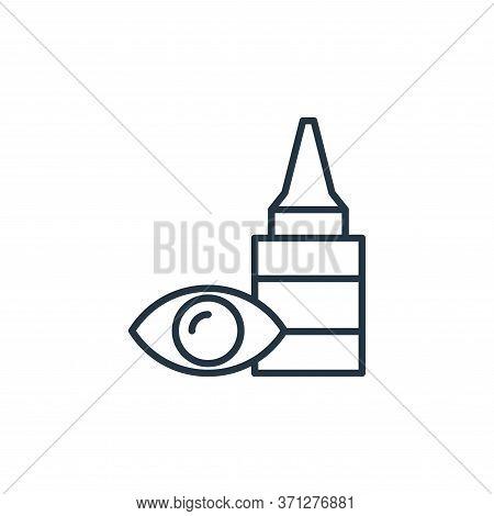 Eye Drops Vector Icon. Eye Drops Editable Stroke. Eye Drops Linear Symbol For Use On Web And Mobile