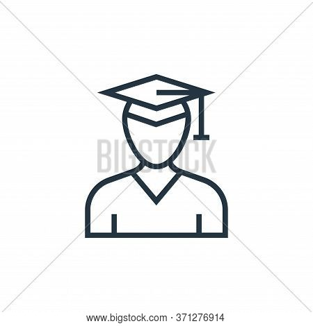 Graduate Vector Icon. Graduate Editable Stroke. Graduate Linear Symbol For Use On Web And Mobile App
