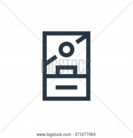 Ticket Office Vector Icon. Ticket Office Editable Stroke. Ticket Office Linear Symbol For Use On Web
