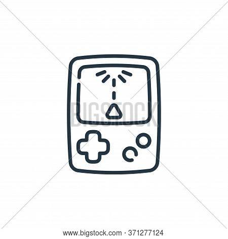 Retro Game Vector Icon. Retro Game Editable Stroke. Retro Game Linear Symbol For Use On Web And Mobi