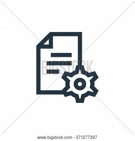 Content Management Vector Icon. Content Management Editable Stroke. Content Management Linear Symbol