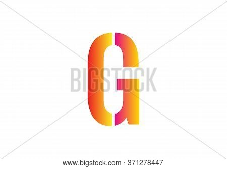 Creative  G Letter Design Vector  For Title, Header, Lettering, Logo. Technology Areas Typeface. Col