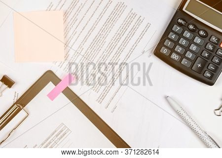 Forms To Fill Out A Loan Application. Office And Banking Supplies.