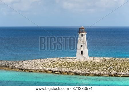 View Of Lighthouse In Nassau, Bahamas In The Caribbean Sea