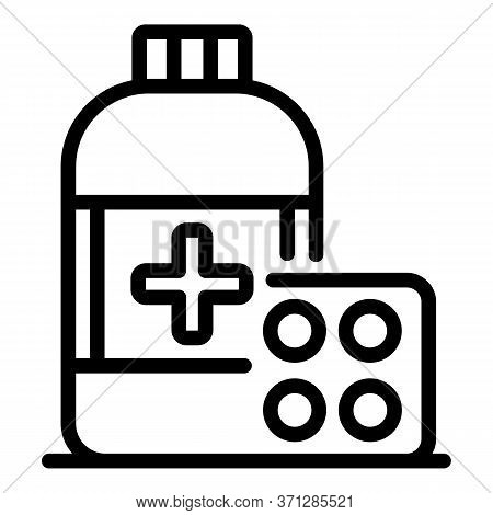 Medicine Drugs Icon. Outline Medicine Drugs Vector Icon For Web Design Isolated On White Background