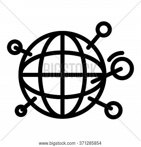 Infected Covid Regions Icon. Outline Infected Covid Regions Vector Icon For Web Design Isolated On W