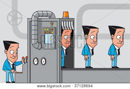 Cloning Machine Of Businessmen