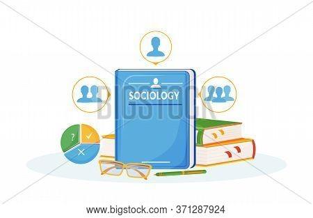 Sociology Flat Concept Vector Illustration. School Subject. Social Science Metaphor. University Cour