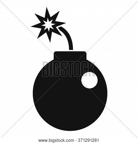 Ninja Bomb Icon. Simple Illustration Of Ninja Bomb Vector Icon For Web Design Isolated On White Back