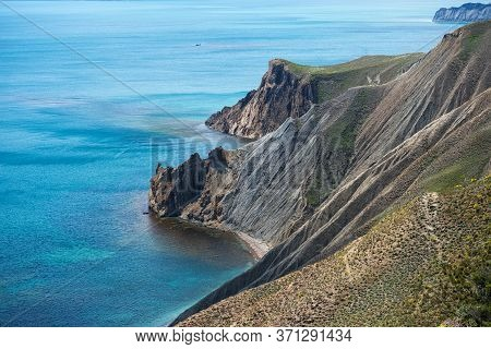 Rocky Volcanic Headlands On The Black Sea Coast