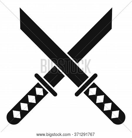 Crossed Sword Icon. Simple Illustration Of Crossed Sword Vector Icon For Web Design Isolated On Whit