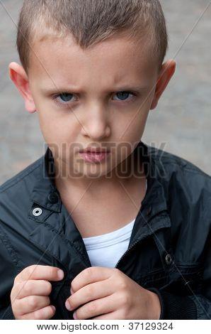resentful a little boy