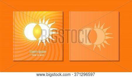 Creative Brochure And Annual Report Cover Design Templates Of Icon Luna And Moon. Vector Illustratio