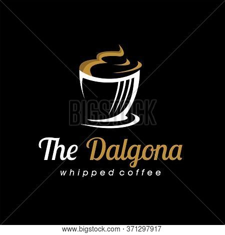 Beverage Logo Modern Whipped Creamy Of Dalgona Coffee Vector And Graphic Design Template Idea