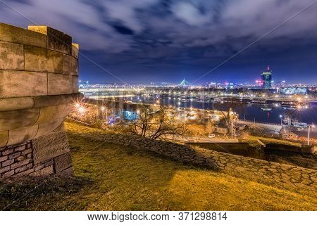 View From The Belgrade Fortress At The New Belgrade Municipality In Serbia