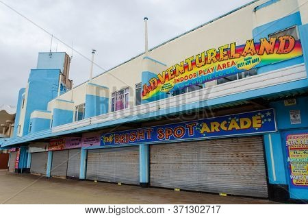 New Brighton, Uk: Jun 3, 2020: A Street View Shows The Impact Of Corona Virus Pandemic On Businesses