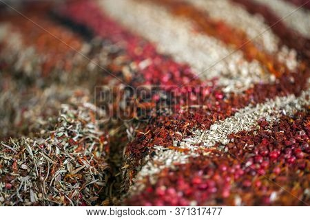 Colorful Mixture Of Different Taste Of Spices