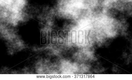 Fog, Smoke, Vapor, Cloud Isolated Overlays Transparent Special Effect, White Smoky Abstract On Black