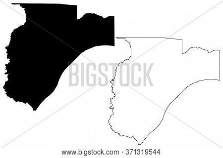 Pulaski County, Illinois (u.s. County, United States Of America, Usa, U.s., Us) Map Vector Illustrat