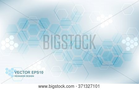 Hi-tech Medical Hexagonal Background. Technology Polygonal Digital Concept. Modern Futuristic Abstra