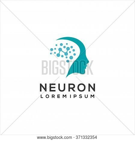 Brain Logo / Neuron Nerve Or Seaweed Logo Design Inspiration ,creative Smart Brain Technology Logo D
