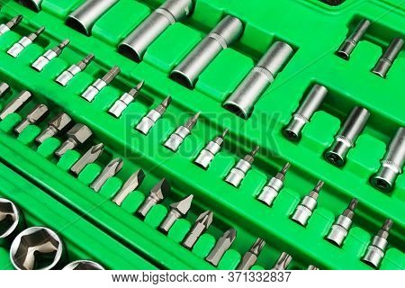 A Set Of Tools, A Complete Set A Six-sided Key, A Bit, A Wrench. Cardan Joint, Screwdriver-holder Fo