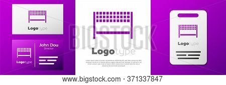 Logotype Ribbon In Finishing Line Icon Isolated On White Background. Symbol Of Finish Line. Sport Sy