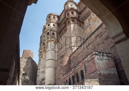 Mehrangarh Fort Is A Beautiful Fort Situated In Jodhpur, Rajasthan