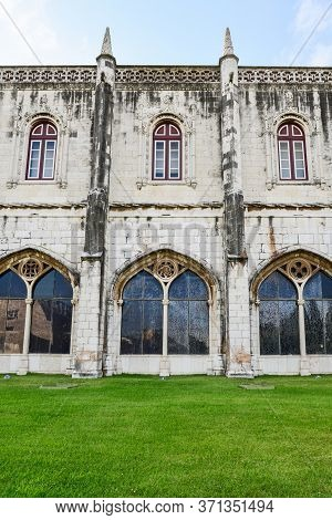Beautiful Image Of The Hieronymites Monastery (jeronimos), A Unesco World Heritage Site, In Lisbon,