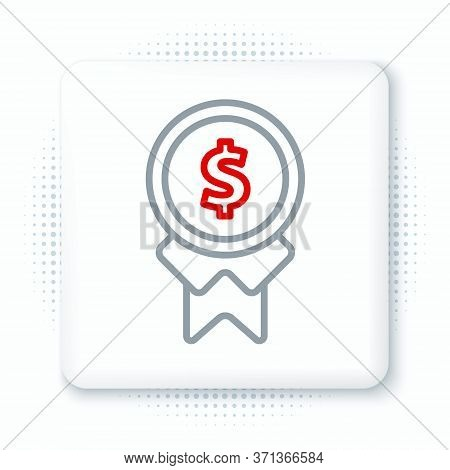 Line Reward For Good Work Icon Isolated On White Background. Employee Of The Month, Talent Award, Ou