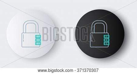 Line Safe Combination Lock Icon Isolated On Grey Background. Combination Padlock. Security, Safety,