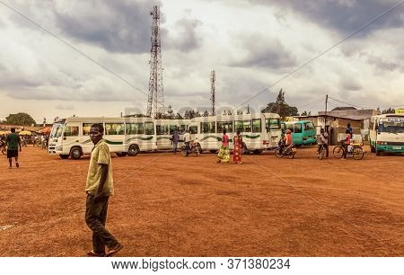 Masaka,rwanda - October 21,2017: The Small,old Village Is In The Kigali Area.in The Center Are Many