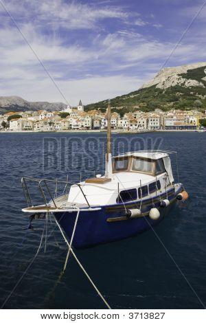 Old Boat At Baska, Croatia