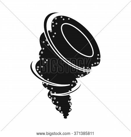 Vector Illustration Of Tornado And Storm Icon. Graphic Of Tornado And Danger Vector Icon For Stock.