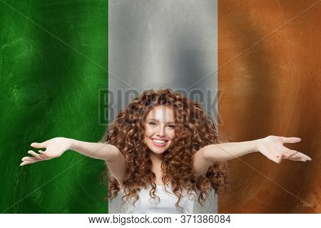 Love Irish Concept With Irish Flag. Travel Concept