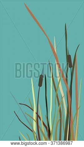 Reed Abstract Sweet Pattern. Modern Digital Design.