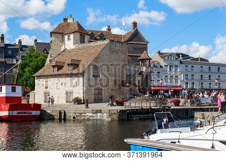 Honfleur, France - Septemner 1, 2019:  The House Of Lieutenant Is The Only Stone House In The City T