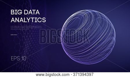 Artificial Intelligence Analytics. Data Technology Science Concept. Network Analysis Sphere Abstract