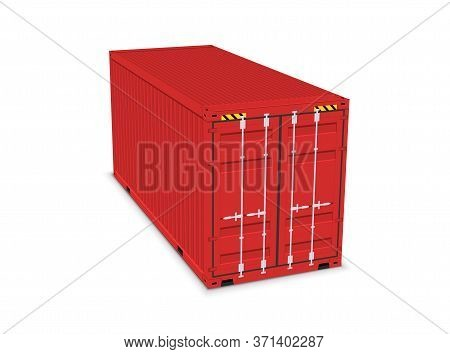Cargo Container 3d Isolated Storage Shipping Box. Export Import Container Warehouse