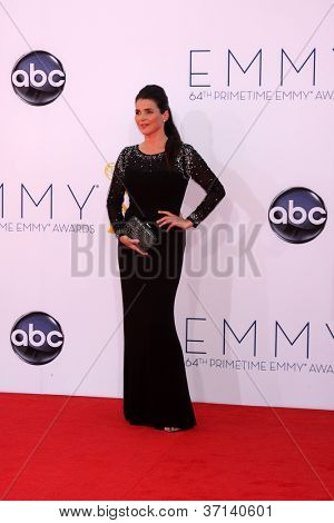 LOS ANGELES - SEP 23:  Julia Ormond arrives at the 2012 Emmy Awards at Nokia Theater on September 23, 2012 in Los Angeles, CA