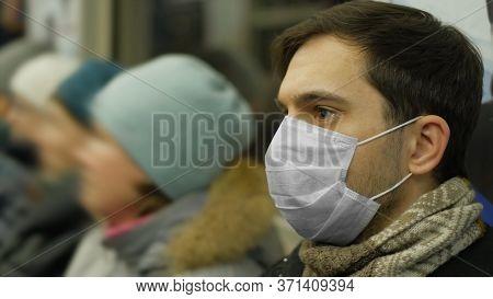 Man In Face Mask Covid-19. Epidemic Coronavirus Mers. Pandemic Flu. Human Masked 2019-ncov. Train Me