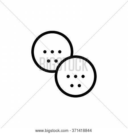 Golf Balls Concept Line Icon. Simple Element Illustration. Golf Balls Concept Outline Symbol Design